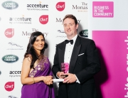BITC Area Director Raksha Pattni  with Glyn Goddard from the Lakes Free Range Egg Co