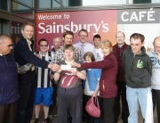donation to Eden Mencap for Egg throwing win by JS
