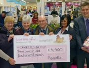 tesco workington cheque presentation 17 March