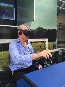 David Brass tests the VR