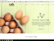 Lakes organic egg website